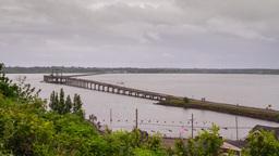 Oregon Coast Highway to Astoria Stock Video Footage