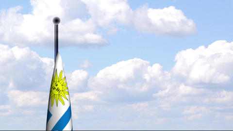 Animated Flag of Uruguay Stock Video Footage