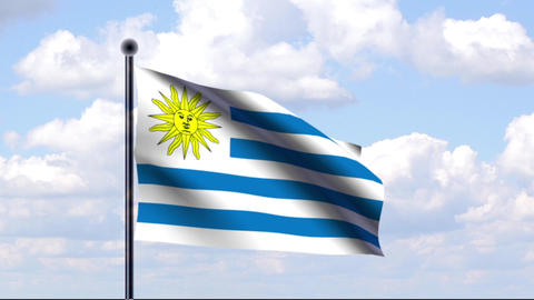 Animated Flag of Uruguay Animation