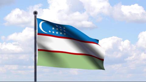 Animated Flag of Uzbekistan / Usbekistan Animation