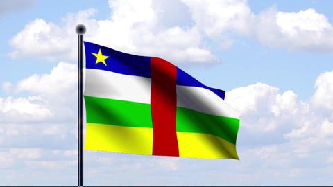 Animated Flag of Central African Republic Stock Video Footage