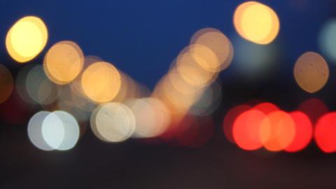 Night glare City Stock Video Footage