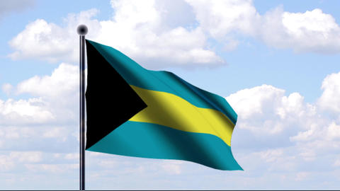 Animated Flag of Bahamas Animation