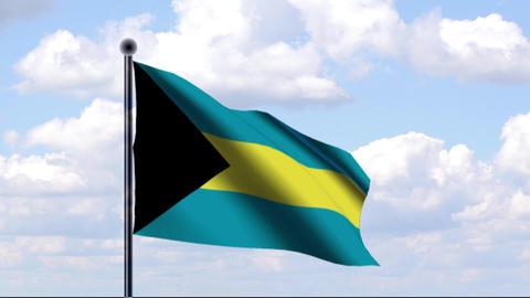 Animated Flag of Bahamas Animation