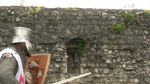 medieval crusader fighting 06 Footage