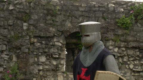medieval crusader fighting 10 Stock Video Footage