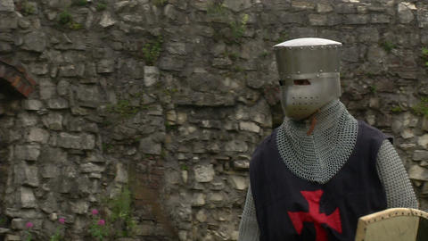 medieval crusader fighting 10 Stock Video Footage