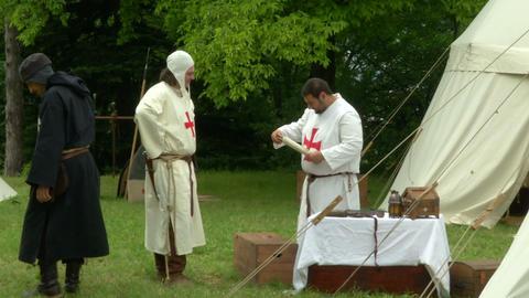 medieval encampment 12 e Footage