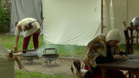 medieval encampment 14 e Footage