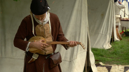medieval village 11 e Stock Video Footage