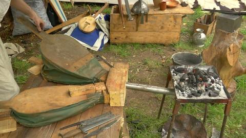 medieval village 21 Stock Video Footage