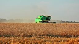 Three harvesters Stock Video Footage