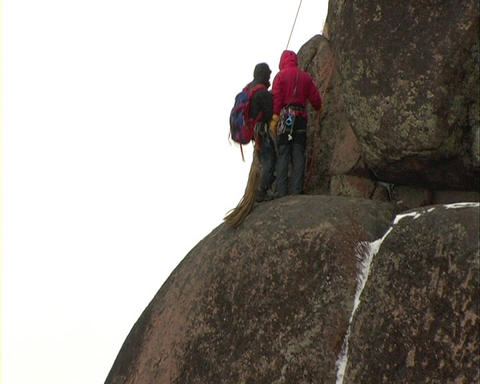 Rock climber Stock Video Footage