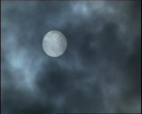 Sun. Grey clouds Stock Video Footage