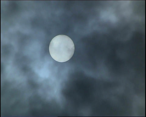 Sun. Grey clouds Footage