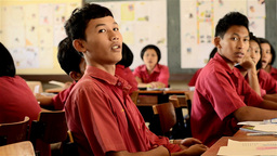Asian Students Singing in a Lesson in High School Stock Video Footage