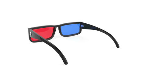 3D glasses Stock Video Footage
