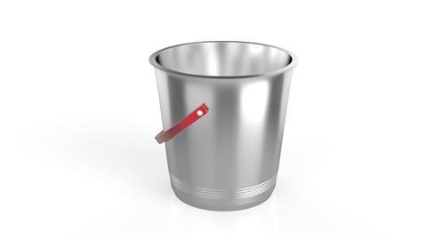 Empty ice bucket Stock Video Footage