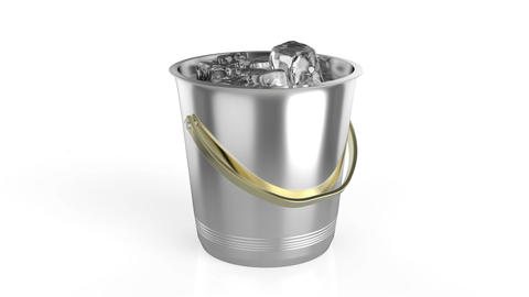 Ice bucket full with ice Animation