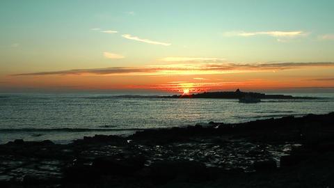beautifil sunset at irish coast Stock Video Footage