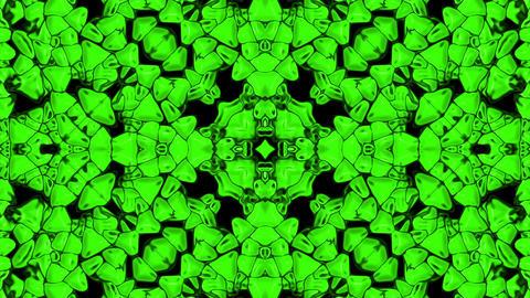 green plastic flower pattern,gorgeous orient religion fancy Stock Video Footage