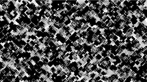 black square block mosaics,computer chip board,math geometry Animation