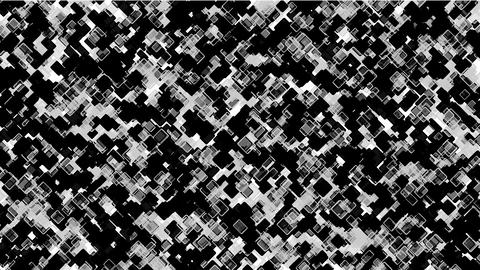 black square block mosaics,computer chip board,math geometry Stock Video Footage