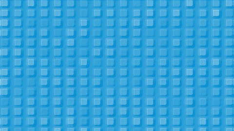 blue plastic square mosaics & block brick matrix wall Animation