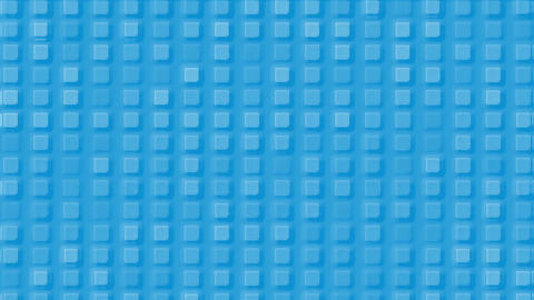 blue plastic square mosaics & block brick matrix wall Stock Video Footage