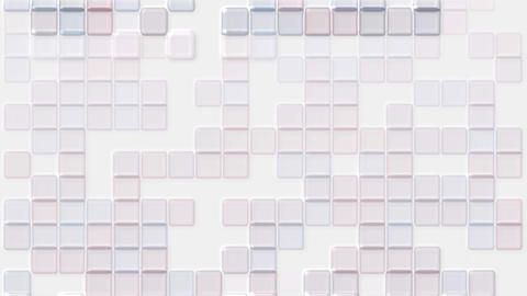 color transparent plastic square mosaics & block brick matrix wall Animation