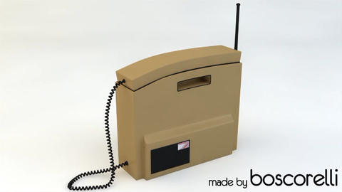 Retro Mobile Phone 3D model 3D