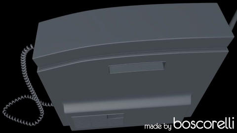 Retro Mobile Phone 3D model 3D Model