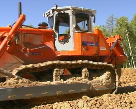 Bulldozer Stock Video Footage