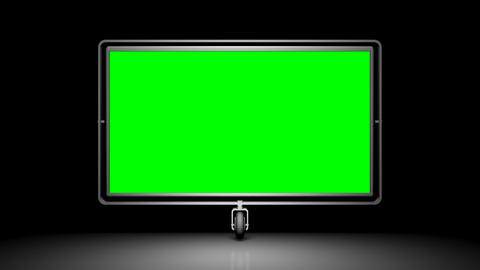 Green screen (alpha) on the wheel. Against a black Stock Video Footage