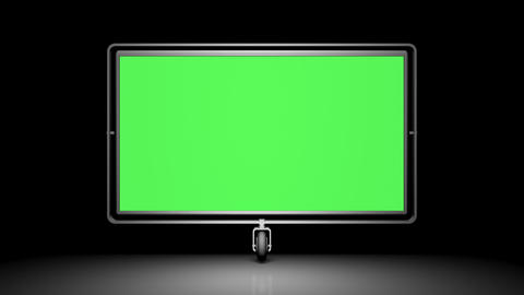 Green Screen (alpha) On The Wheel. Against A Black stock footage