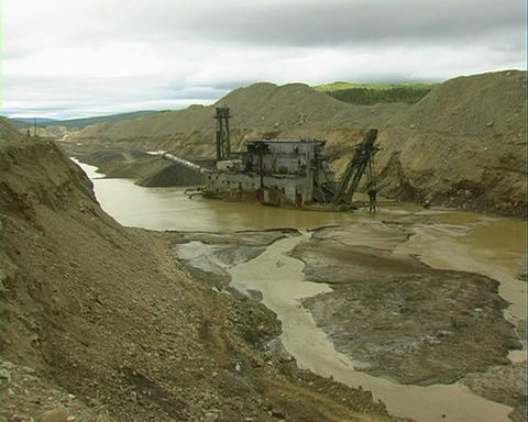 Strip Mining. Draga stock footage