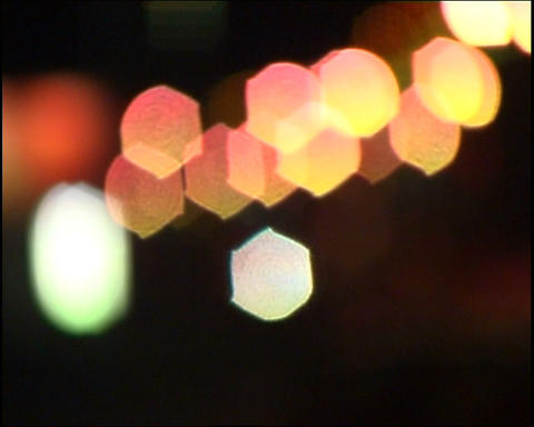 Defocused lights Footage
