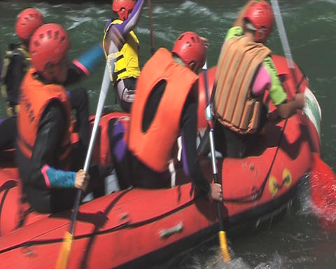 Rafting stock footage