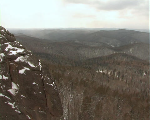 The Mountain landscape in winter Footage