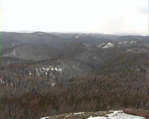 The Mountain landscape in winter Stock Video Footage