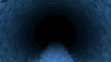 Path Through Ice Cave POV Background stock footage