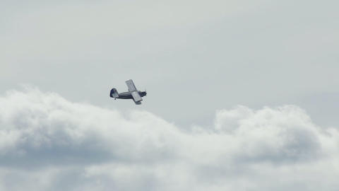 Antonov An-2 russian retro biplane aircraft flyby Stock Video Footage
