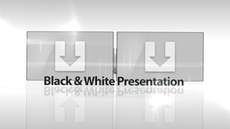Black & White Presentation - Apple Motion and Final Cut Pro X Template Apple Motion Template