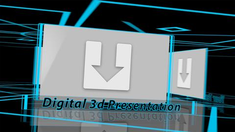 Digital 3d Presentation - Apple Motion and Final Cut Pro X Template Apple Motion Template