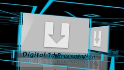 Digital 3d Presentation - Apple Motion and Final Cut Pro X Template Apple Motionテンプレート