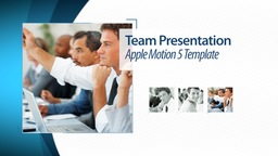 Team Presentation - Apple Motion and Final Cut Pro X Template Apple Motion Template