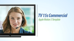 TV HD 15s Commercial Text Version - Apple Motion and Final Cut Pro X Template Apple Motion Project
