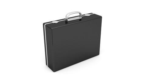 Black briefcase Stock Video Footage