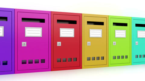 Colorful mailboxes Stock Video Footage