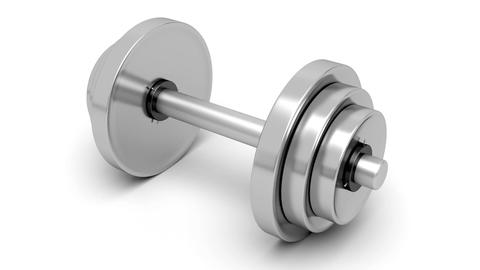 Dumbbell Stock Video Footage